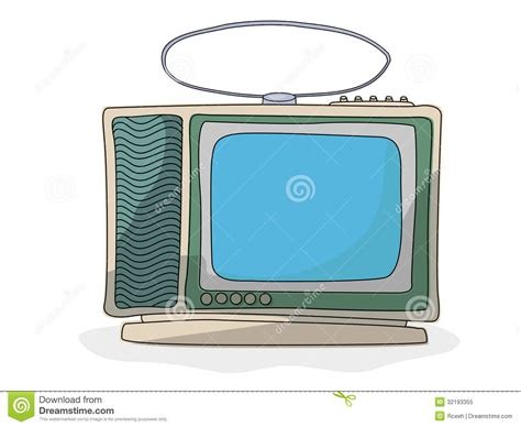 Retro Cartoon Tv Set Royalty Free Stock Photo