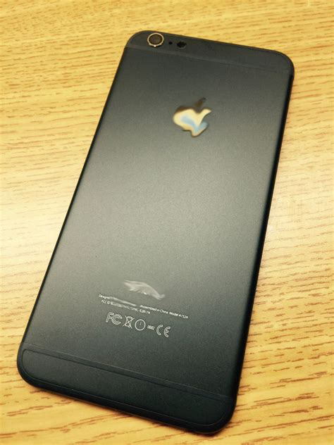 iPhone 6 Matte Black / Gold Housing Back Cover Middle