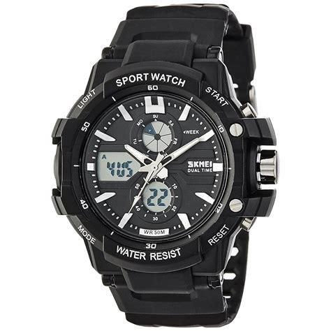 jam tangan pria jam tangan wanita skmei jam tangan sport pria ad0990 white black