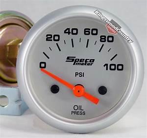Speco 2 Electrical Oil Pressure Gauge 100psi New