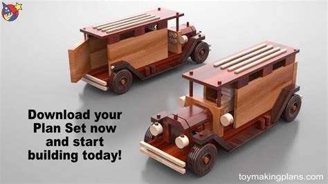 wood toy plans antique metro trucks youtube