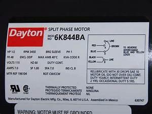 Dayton Ac Motor Wiring Diagram