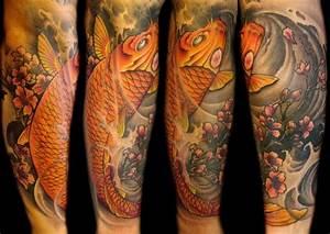 Tatuajes del pez Koi
