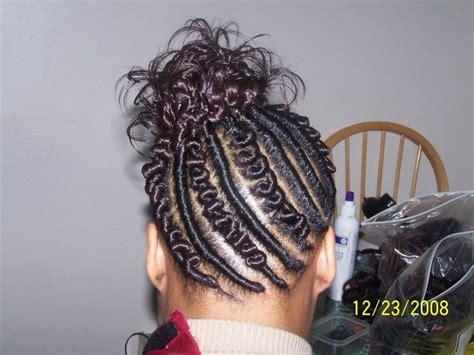 Twisted Knots Hairstyle by Flat Twist Hair Designs Knot Twist Flat Twist