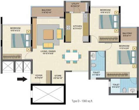 caesars palace suites floor plans 1360 sq ft 3 bhk 2t apartment for sale in nitesh caesars