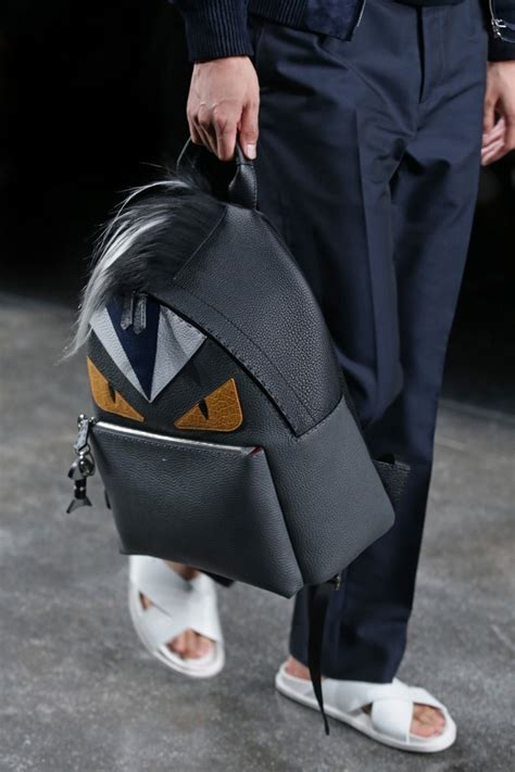 fendi mens springsummer  collection feature selleria backpacks spotted fashion