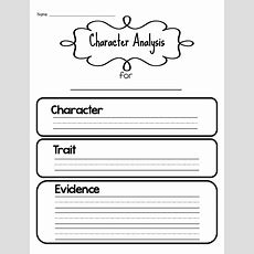 Sarah's First Grade Snippets Teaching Character Analysis In The Primary Grades