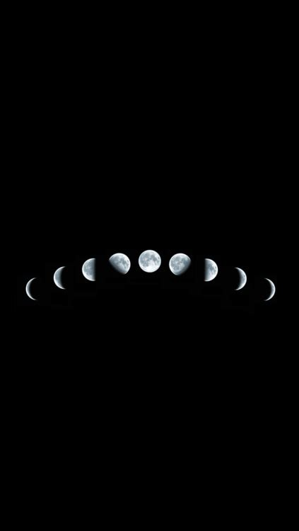Moon Phases Background Moon Phase Wallpaper