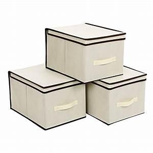 Stoffbox Mit Deckel : songmics 3 st ck faltbox mit deckel faltbare aufbewahrungsbox stoffbox beige 40x30x25cm rfb03m ~ Frokenaadalensverden.com Haus und Dekorationen