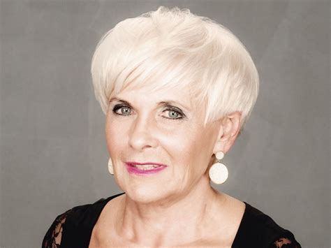 short sassy practical  wearable hairstyle  older women