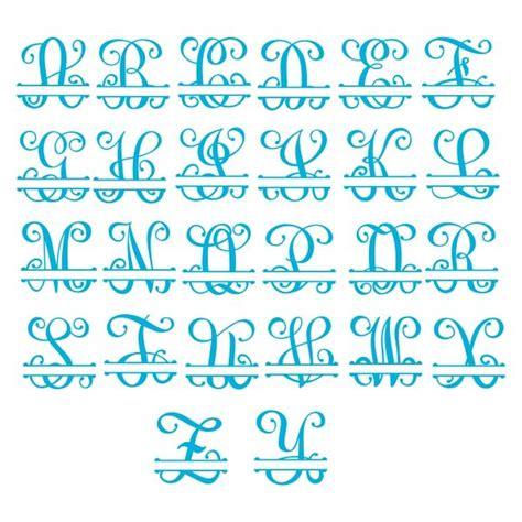 interlocking vine split monogram cuttable font cricut monogram font  monogram fonts
