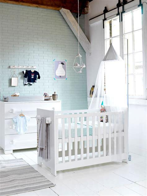mur chambre bébé la couleur mint dans la chambre bébé