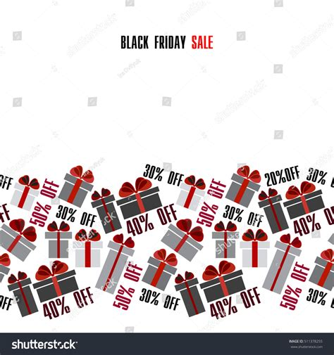 black friday sale black white stock vector 511378255
