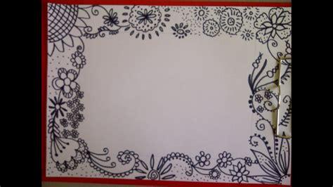 zentangle zeichnung zeitraffer schoene verzierung