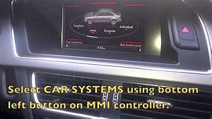 How To Reset The Oil Change Service Interval On 2013 Audi