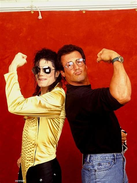mj  actor sylvester stallone backstage