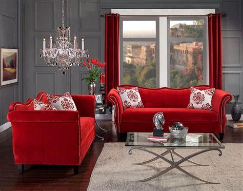 zaffiro ruby red sofa loveseat set   usa usa