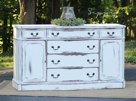 shabby chic sideboard buffet shabby chic buffet sideboard by seppiafurniture on etsy