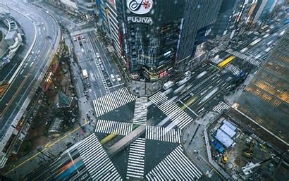 Street Japan Buildings Cars Building Wallpapers Movement