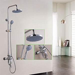 Wasser Sparen Dusche : saejj einstellbare dusche duschkopf kupfer hei e und kalte dusche drei wasser wasseroberfl che ~ Yasmunasinghe.com Haus und Dekorationen