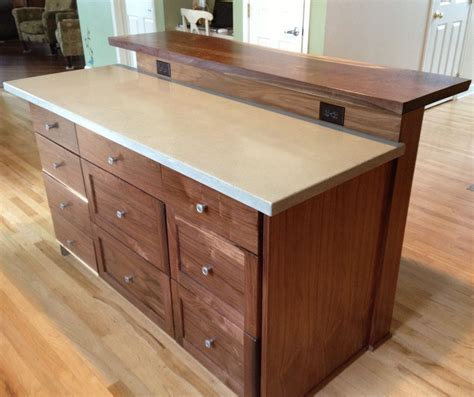 how to build a movable kitchen island custom kitchen island with slab bar top by saw tooth