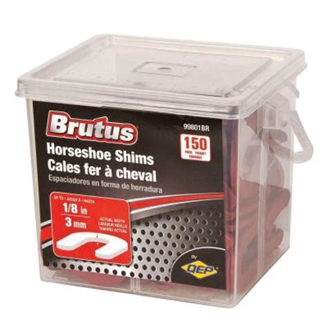 brutus 1 8 in horseshoe shim tile spacers pail of 150