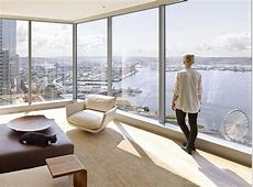 HighRise Apartment with FloortoCeiling Windows