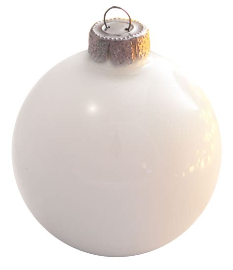 polar white glass ball christmas ornament