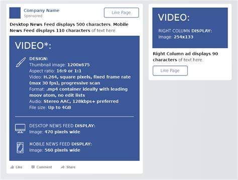 facebook cheat sheet  sizes  dimensions dreamgrow
