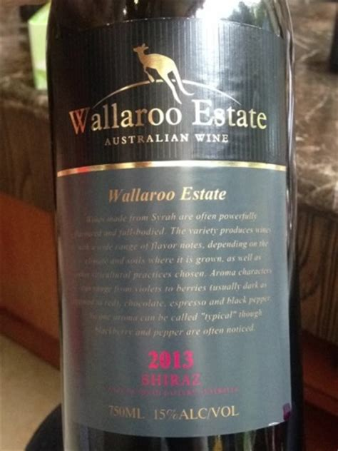 wallaroo wallaroo estate shiraz wine info