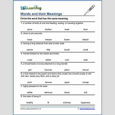 Grade 3 Vocabulary Worksheet  Words And Their Meanings  K5 Learning