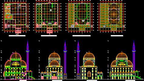 mosque dwg plan  autocad designs cad