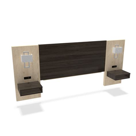 King Size Headboard With Lights by Simplicity 53h King Size Headboard With Nightstand Panels