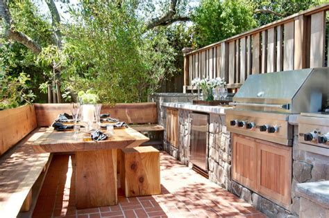 Outdoor Kitchen Ideas   Transitional   deck/patio
