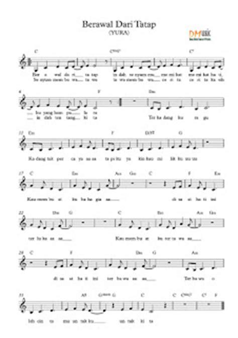 not angka berawal dari tatap resensi musik partitur lagu not balok angka indonesia barat