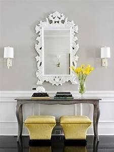 Miroir et console pour entree