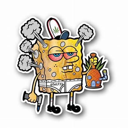 Stoner Stickers Clipart Marijuana Smoking Drawings Sticker