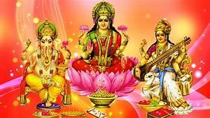 Ganesh Lakshmi and Saraswati wallpapers