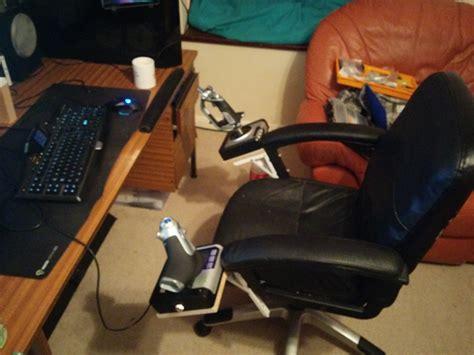 custom foldable hotas chair mount made on the cheap