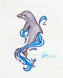 Drawings Of Dolphins Jumping Out Of Water | www.imgkid.com ...