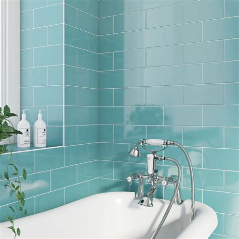 blue ceramic subway tile ceramic tile metro flat powder blue gloss tile 4803