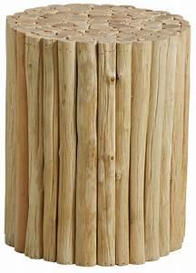 Rond En Bois : tabouret rond en bois ~ Teatrodelosmanantiales.com Idées de Décoration