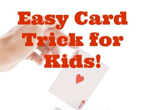 card tricks easy card tricks for kids ponder monster