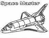 Coloring Space Spaceship Shuttle Pages Nasa Master Printable Netart Print Getdrawings Getcolorings sketch template