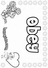 Obey Coloring Pages Children Sheets Parents Obedience Sheet Printable Crafts Sunday Bible Names Girly Obeying Craft Hellokids Preschool Worksheets Activities sketch template