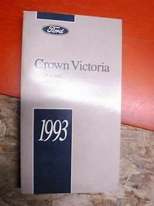 1993 Ford Crown Victoria Factory Owners Manual Operators