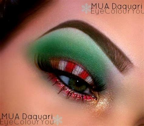 candy cane holiday eye shadow beauty tips pinterest