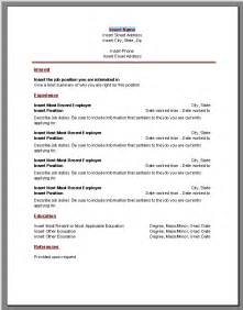 resume microsoft word template sle resume format march 2015