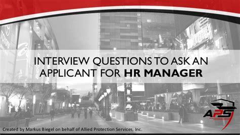 Hr Manager Questions by Hr Manager Questions Sle