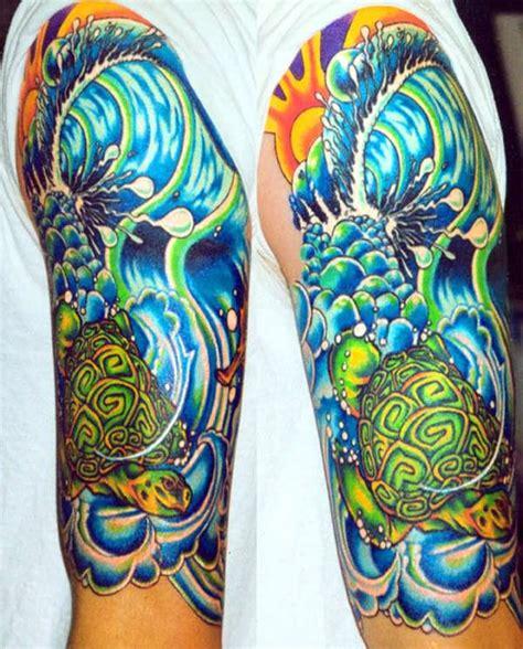 awesome wave tattoos   sleeve